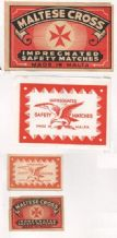 Collectible MALTA match box labels large and small #115